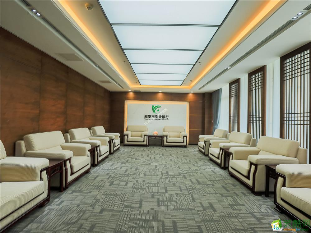 >> 成都辦公室裝修-2800平米銀行裝修案例裝修效果圖