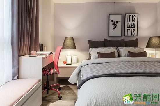 武漢二手房裝修—楓樺葦岸60㎡兩室一廳簡約風格裝修設計效果圖