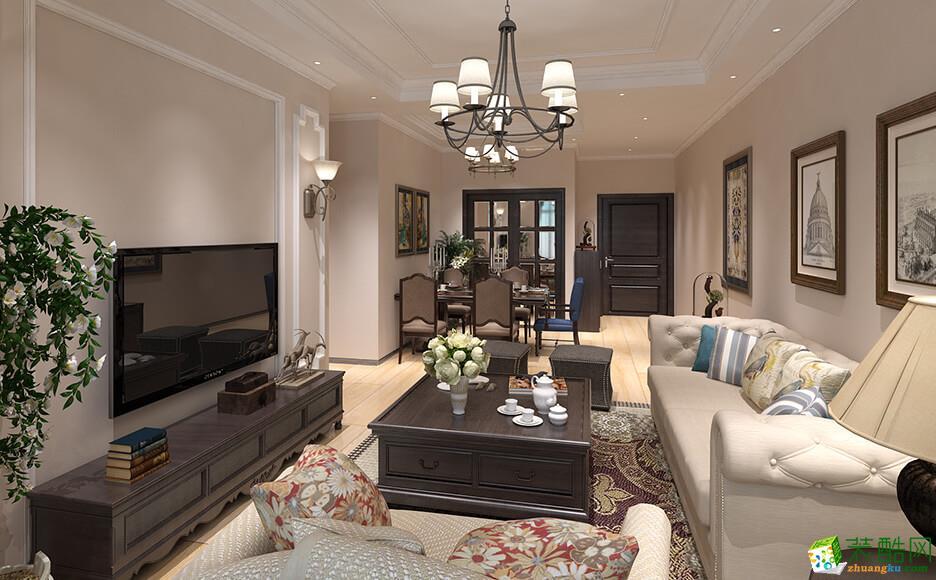 郑州三室一厅一卫装修―鲁公大宅和昌悦澜103�O美式风格作品