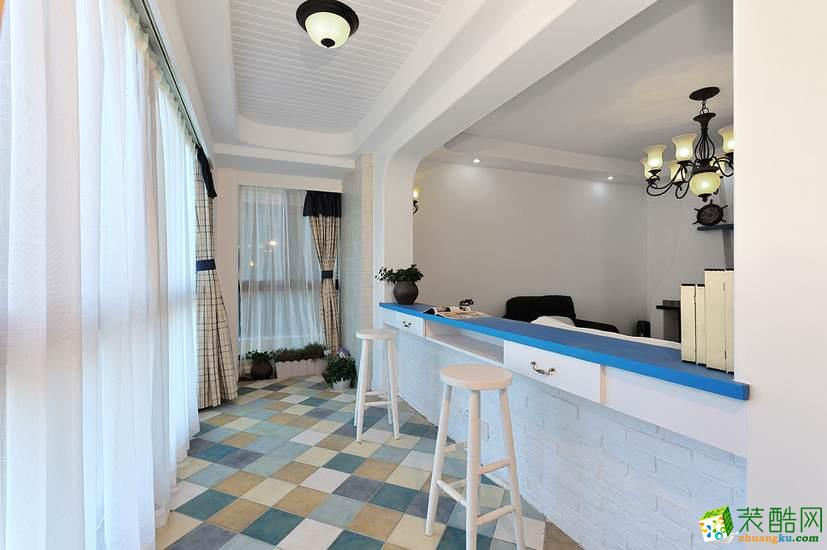 济南水木南山装饰-120平米地中海三居室装修案例