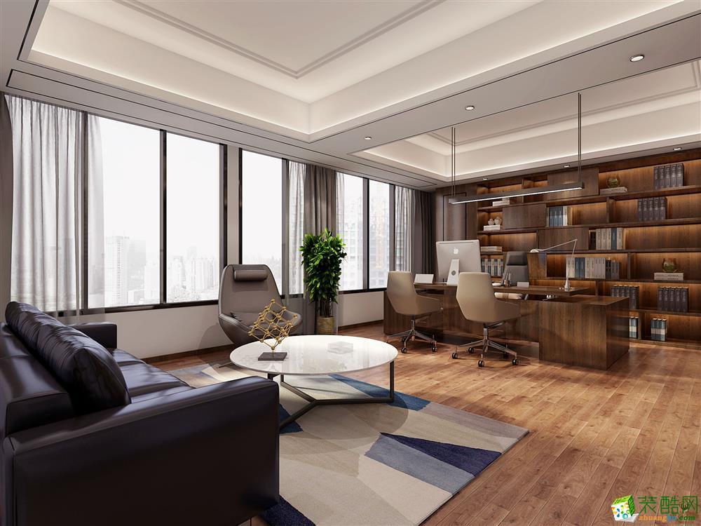 郑州办公室装修―九鼎装饰现代中式开放办公室装修效果图