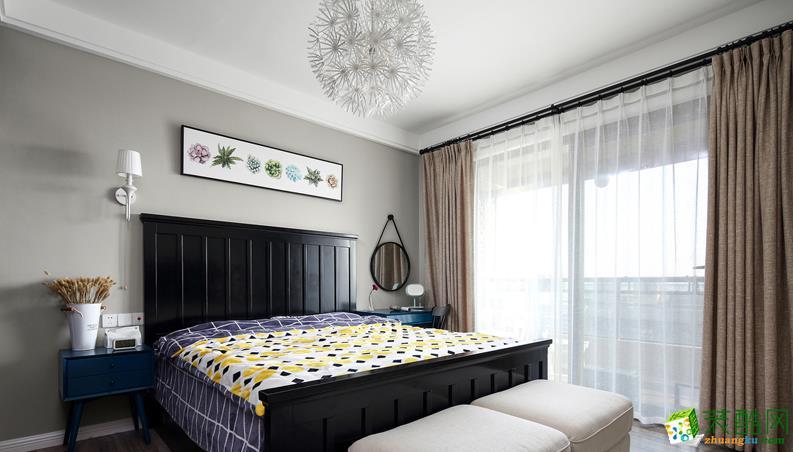 济南水木南山装饰-115平米混搭三居室装修案例