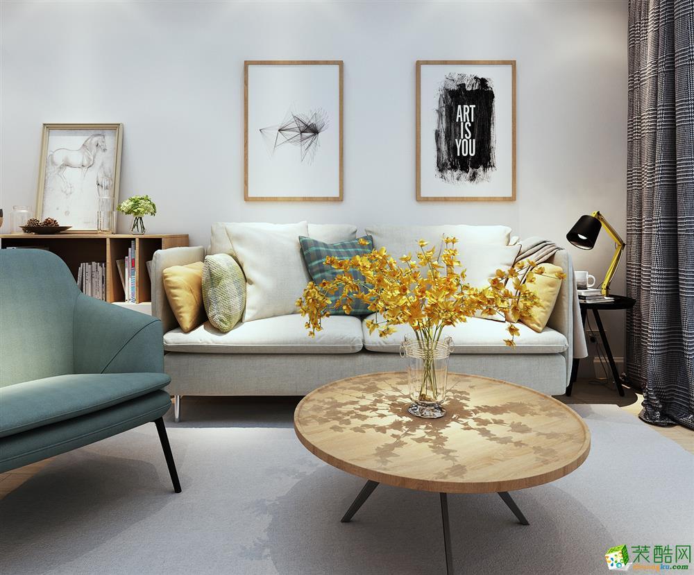 济南水木南山装饰-90平米现代简约两居室装修案例