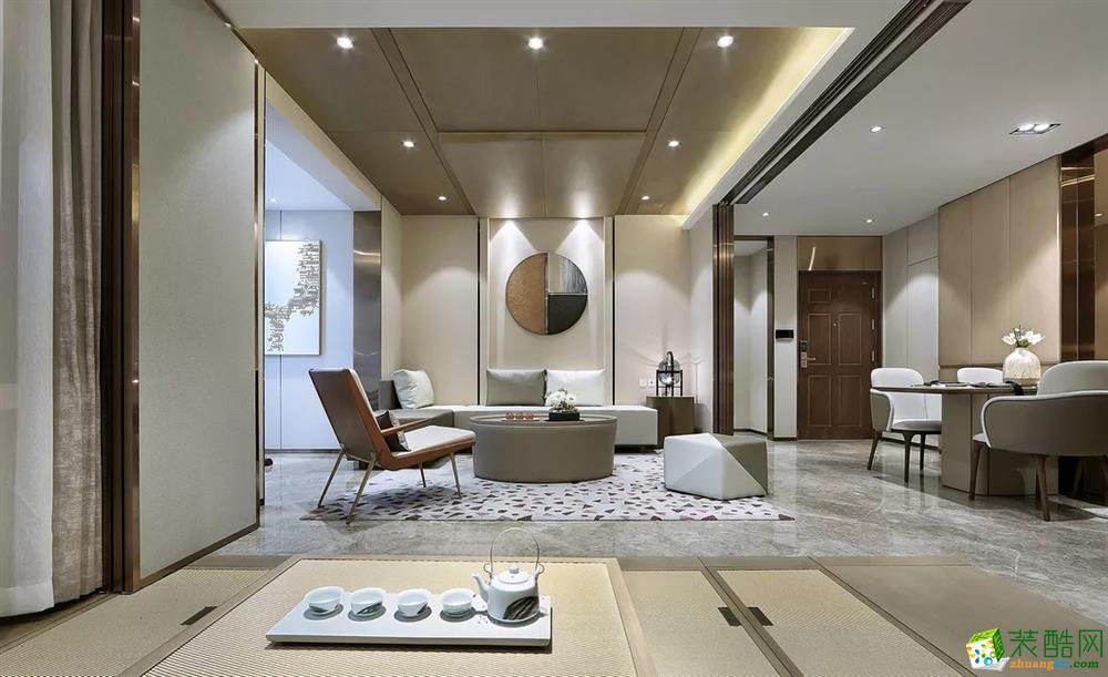 >> 武汉90㎡三室一厅一卫装修—利景花园简约风格装修效果图