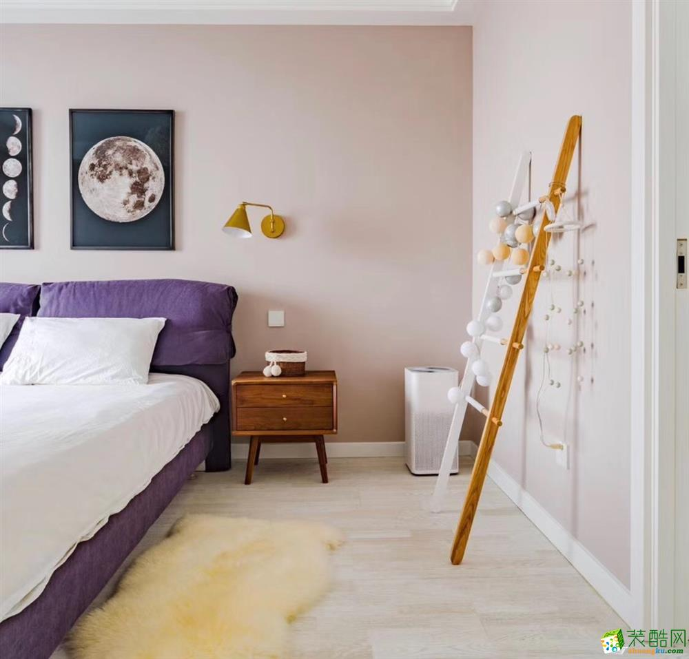 卧室 合肥105平米三室两厅装修—小清新文艺风格装修设计效果图 合肥