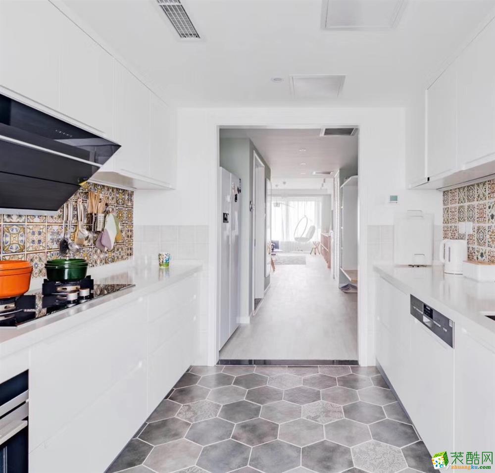 合肥105平米三室兩廳裝修—小清新文藝風格裝修設計效果圖