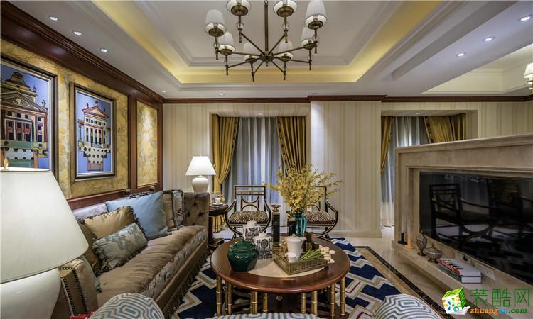 武汉140�O三室两厅两卫装修―复地东湖国际欧式风格设计作品