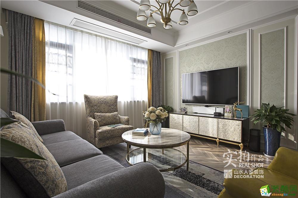 武汉三室两厅两卫装修―山水人家长丰城135平轻奢现代实景作品