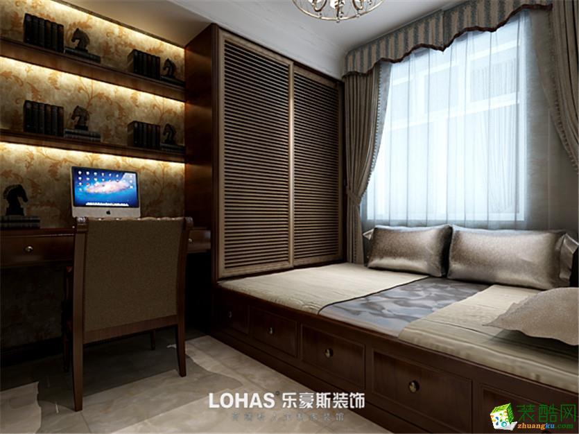 郑州三室两厅两卫装修―乐豪斯装饰天地湾135平美式风格装修效果图