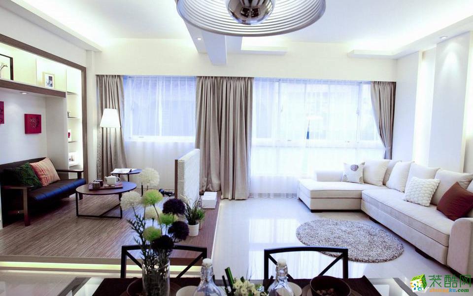 重慶兩室一廳裝修-60平米北歐風格案例裝修效果圖-維享家裝飾