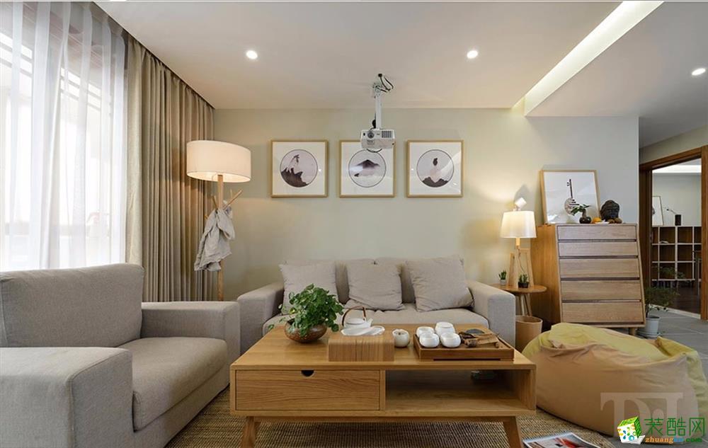 武汉110平米三室两厅装修―金色港湾雅致主设计效果图