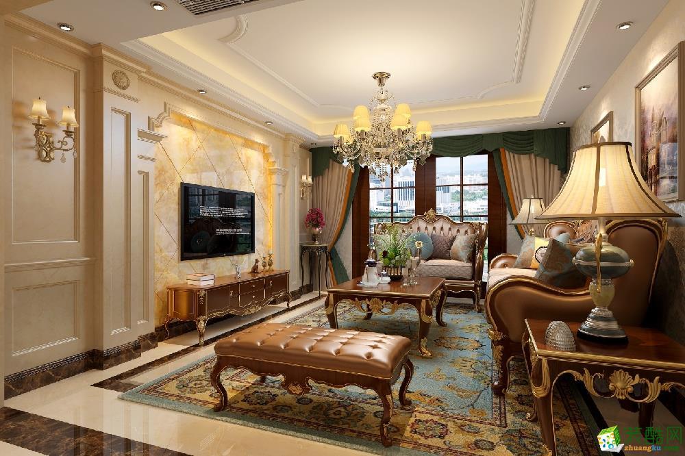 合肥四室两厅装修【九点装饰】华润凯旋门 148平欧式风格效果图