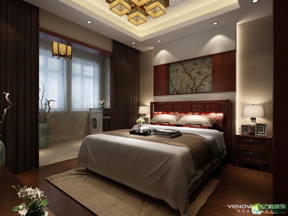 郑州三室两厅一卫装修―海马公园120平新中式风格作品