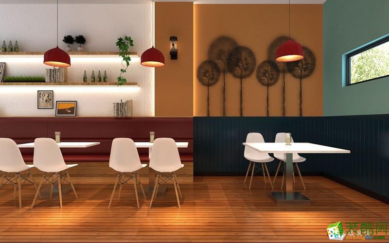 鄭州快餐店裝修100平米簡約風裝修設計效果圖