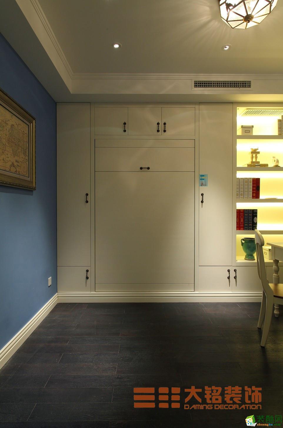 郑州两室一厅一卫户型图装修―大铭装饰明天花园80平地中海风格装修效果图