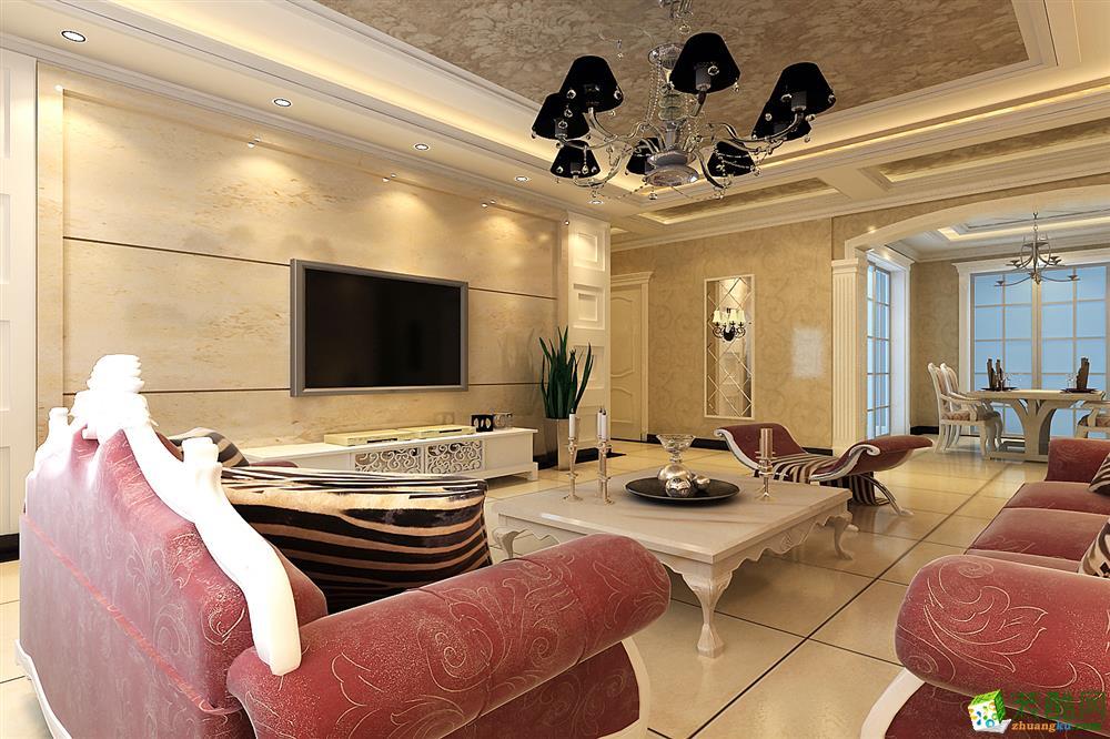 欧式风格设计装修效果图 郑州三室两厅一卫装修—梵客装饰和盛嘉园118