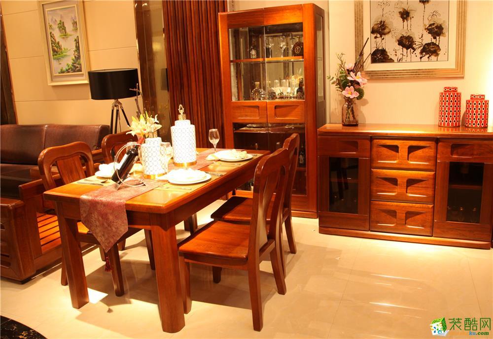西安品牌實木家具產品中心琥珀系列001