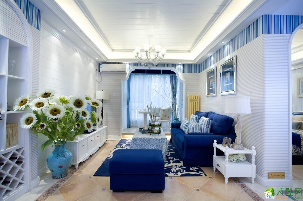 广州三室一厅装修-80平米地中海风格阿里扎新效果图-汤迪装饰