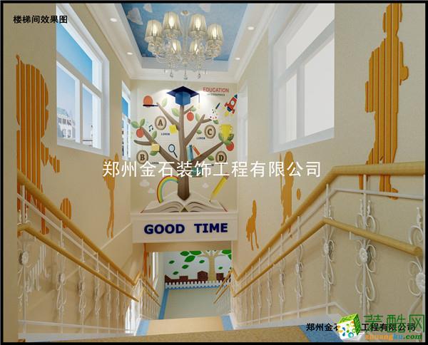 >> 郑州幼儿园装修户型图—金石装饰睿爱树幼儿园800平欧式风格装修