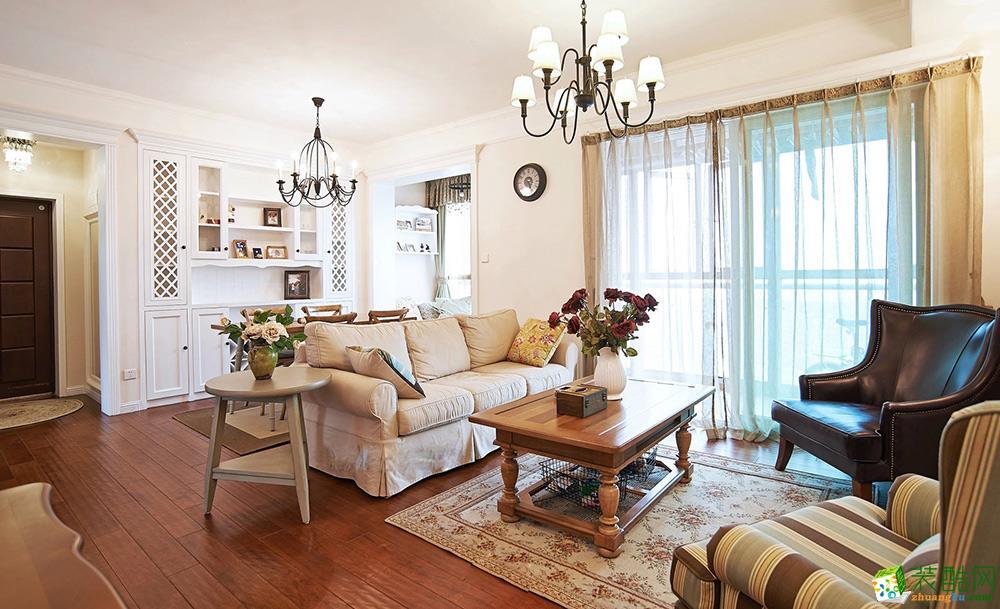 重庆两室两厅装修-86平米美式风格装修效果图-西港装饰