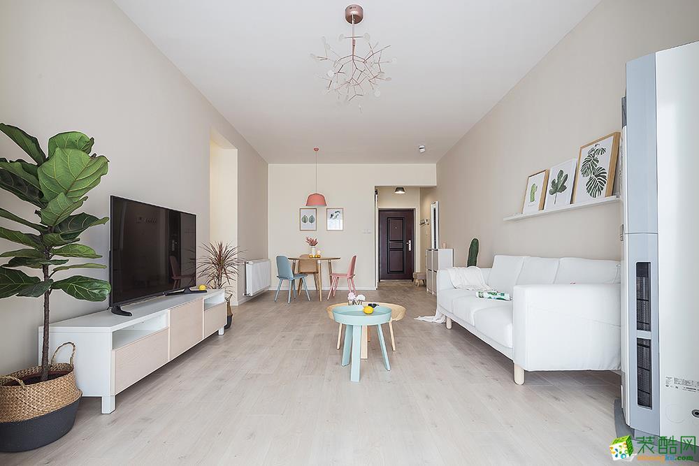 重庆两室两厅装修-95平米现代简约装修效果图-居联峰尚装饰