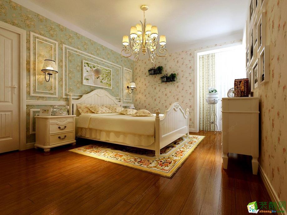 郑州三居两厅两卫装修―龙发装饰嘉苑和谐园140平田园风格作品