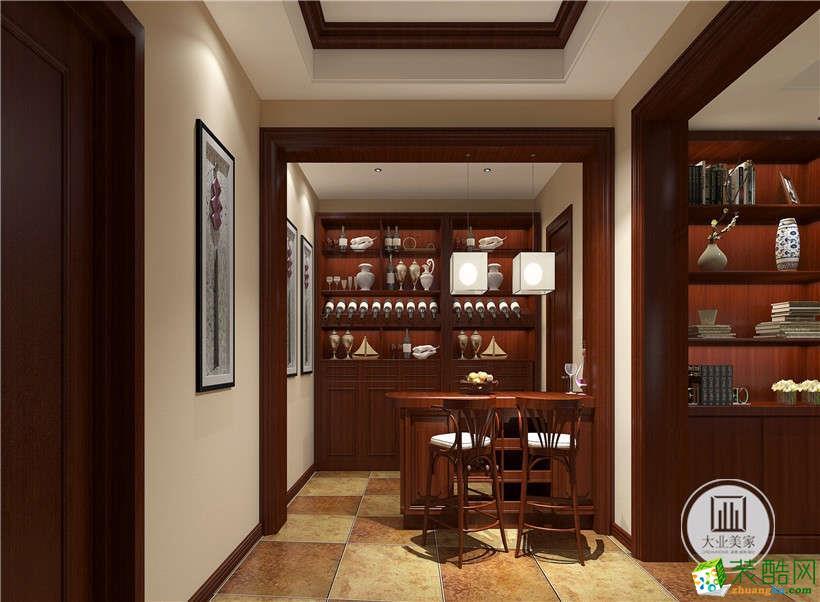武漢中式別墅裝修—湯遜湖一號250平米新中式別墅設計效果圖