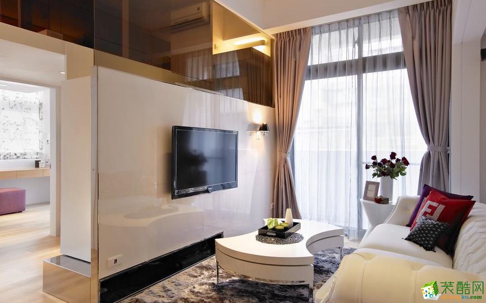 重庆三室一厅装修-90平米现代简约风格装修效果图赏析-维享家装饰