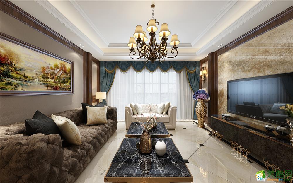 重庆三室两厅装修-130平米美式风格装修效果图赏析-美的家装饰