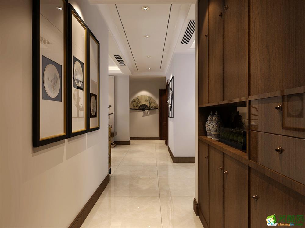 石家庄三室两厅两卫装修―锦河湾135平新中式风格装修效果图