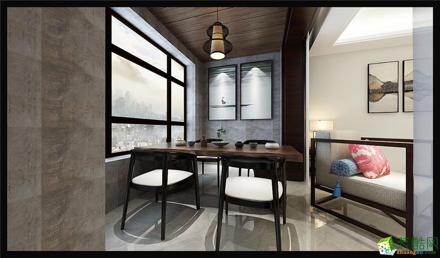 石家庄三室一厅一卫装修―百岛绿城100平中式风格装修作品