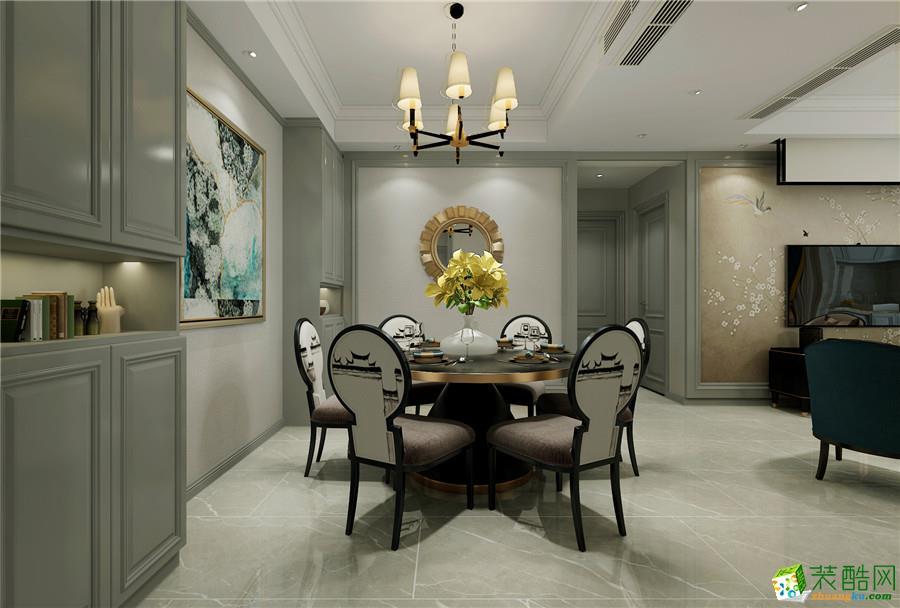 石家庄三室两厅一卫装修―德贤公馆120平美式风格装修作品