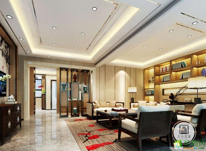 【大业美家装饰】太湖城邦别墅中式风格装修设计案例