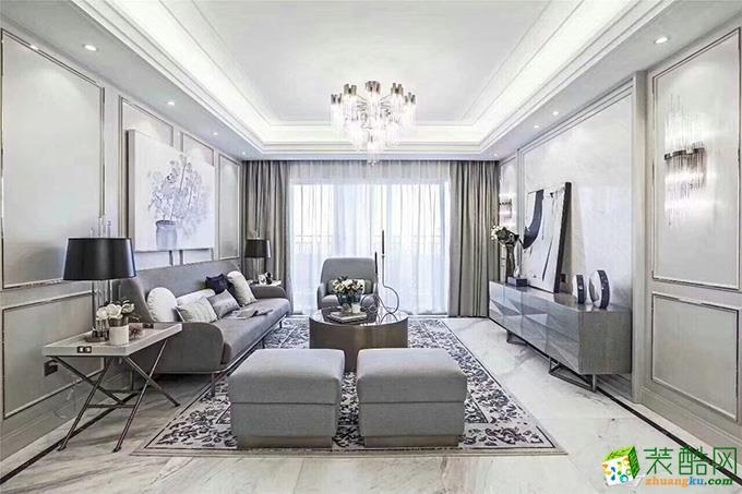 成都四室两厅装修-135平米法式风格装修效果图-菡萏怡景