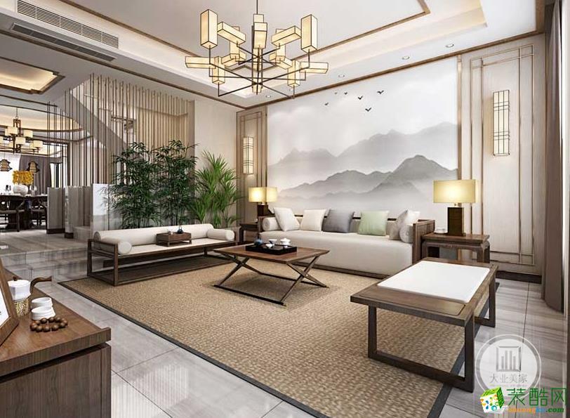 【大业美家装饰】太仓绿地新中式风格装修设计案例