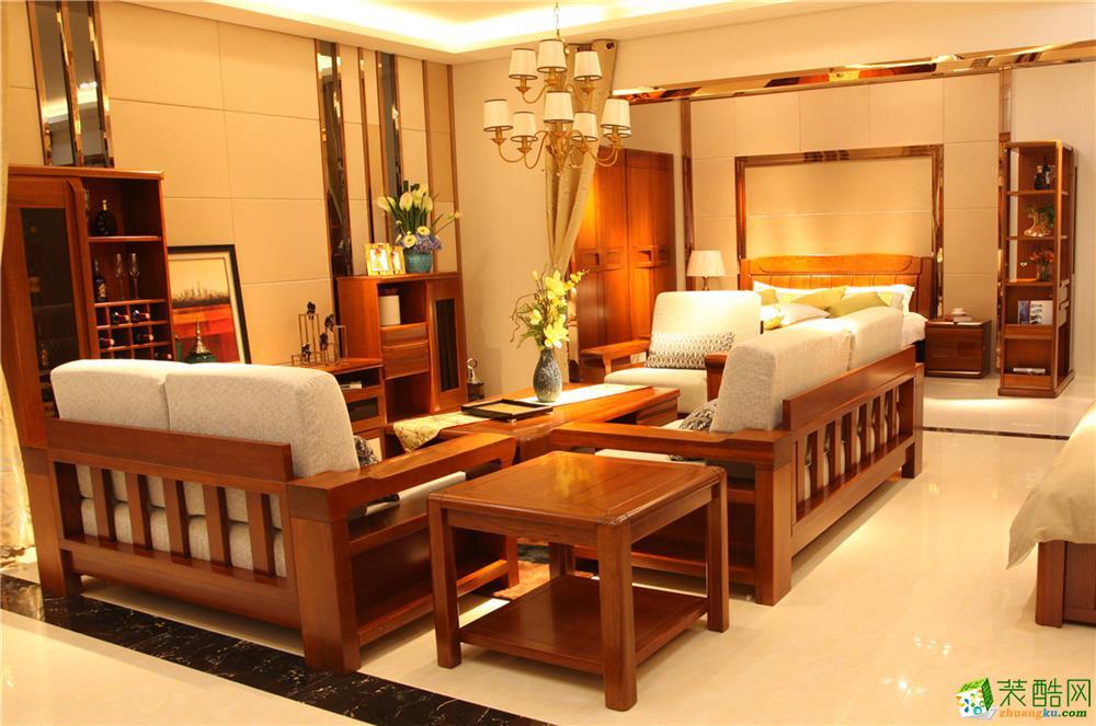 西安品牌實木家具產品中心琥珀系列002