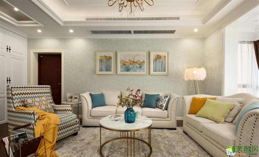 昆明110平米三室两厅装修―实力玖如堂美式风格效果图