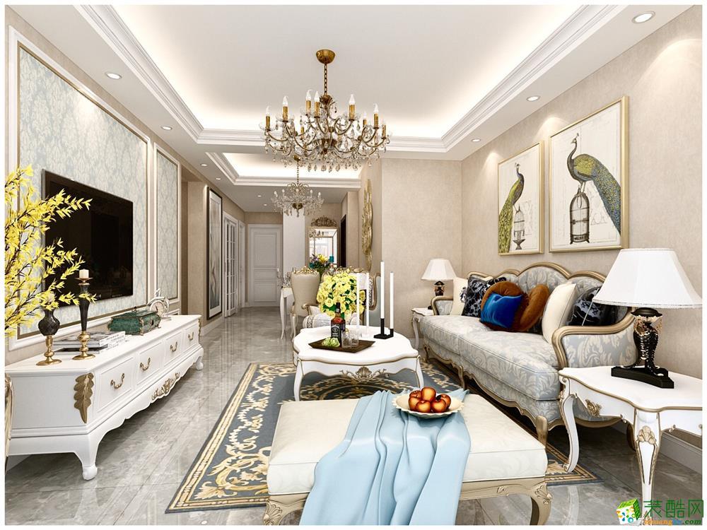 天津96平米三室两厅装修―【力天装饰】金地艺城华府欧式风格