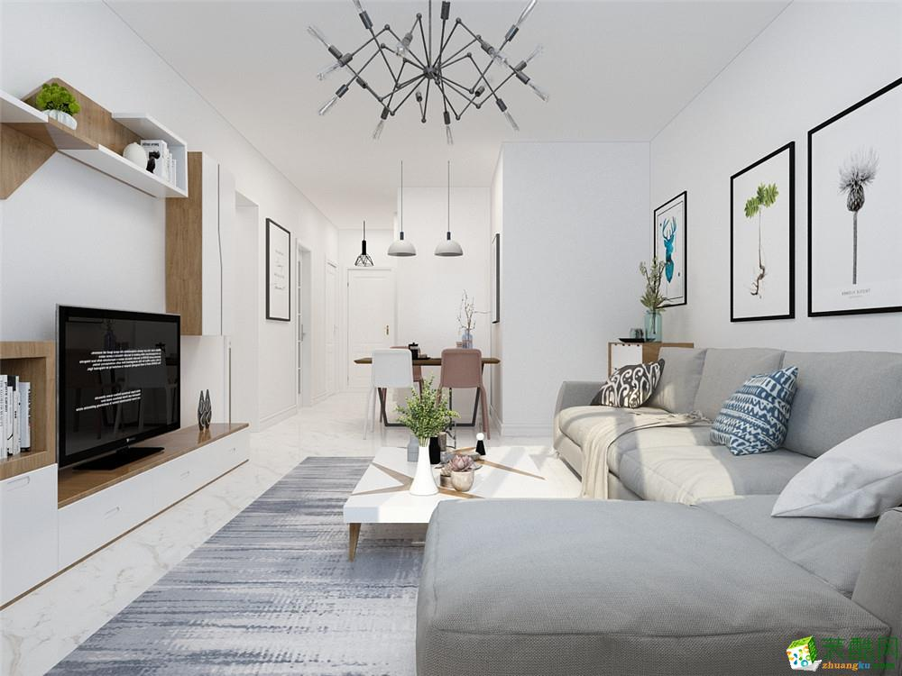 天津100平米三室两厅装修―【力天装饰】金湖湾北欧风格作品