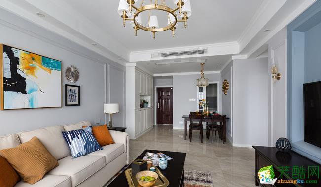昆明95平米三室两厅装修―锦苑花园 美式风格效果图