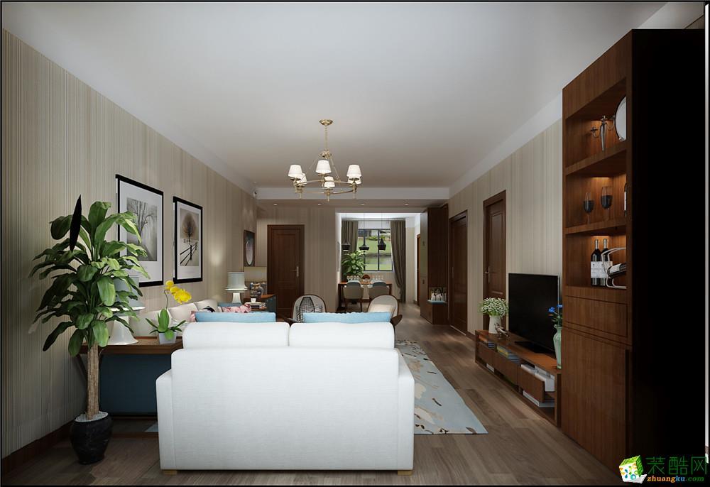 天津129平米三室两厅装修―【力天装饰】诺德中心现代简约风格