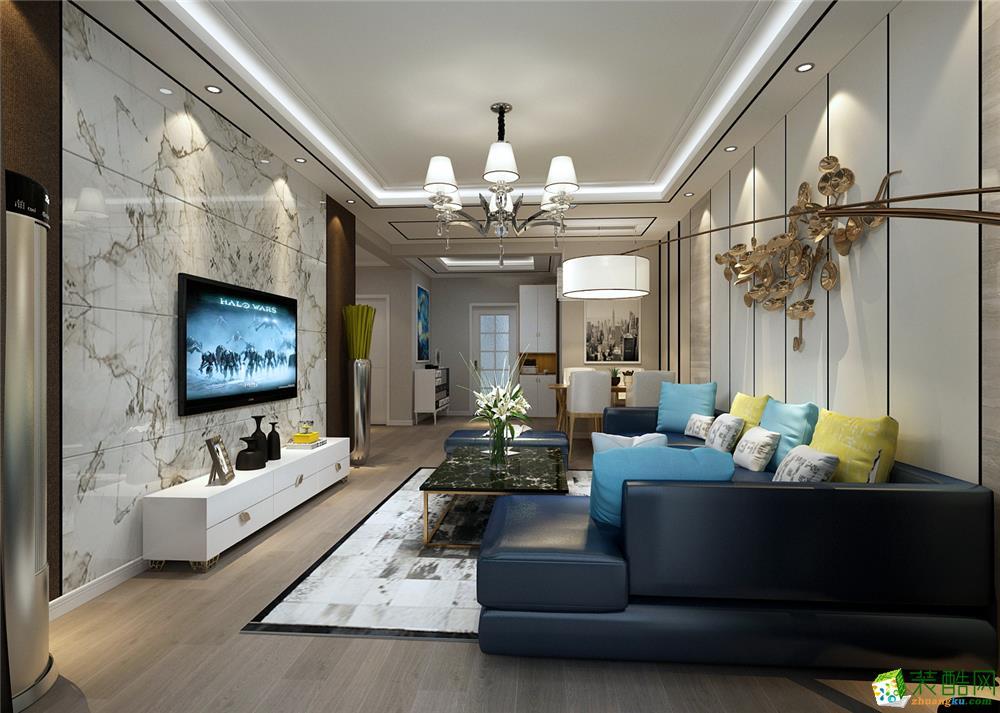 天津100平米两室两厅装修―【力天装饰】荷香园美式风格作品
