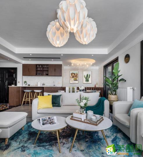 昆明140平米三室两厅装修―众和东苑 北欧风格效果图