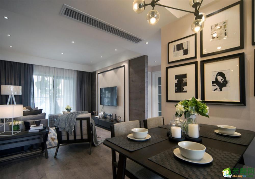 成都三室兩廳裝修-100平米北歐風格裝修效果圖-豐立裝飾
