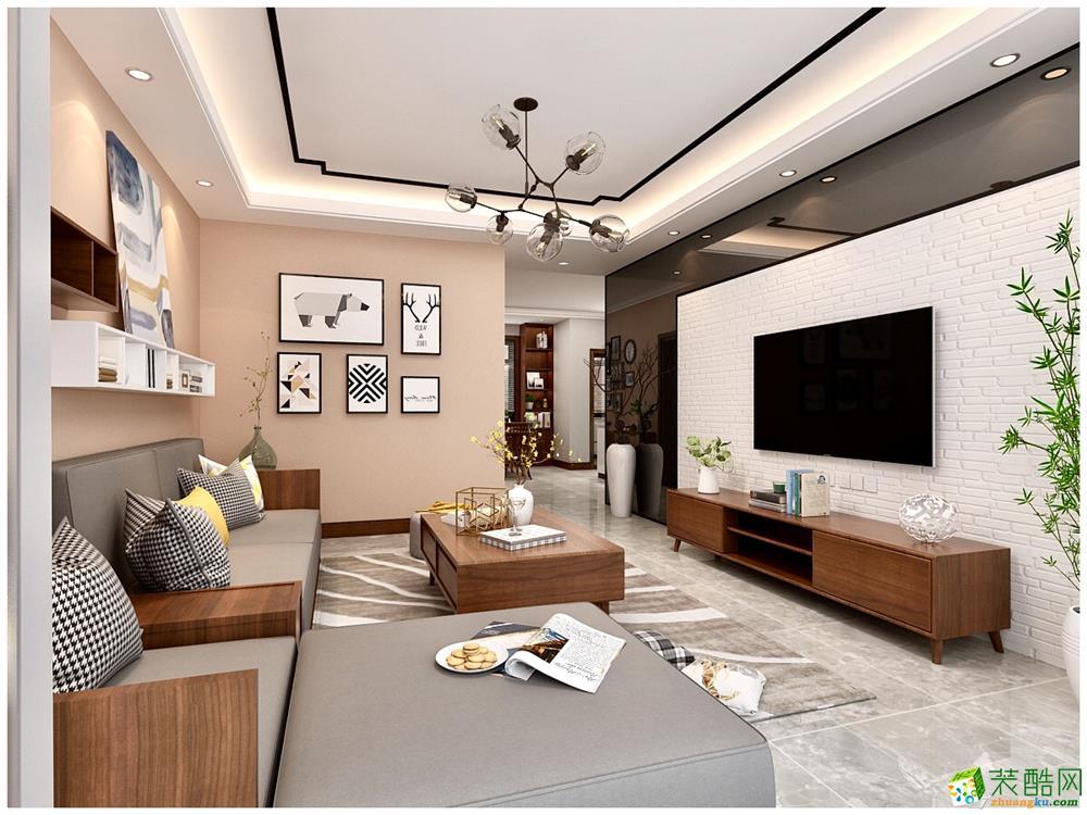 天津140平米三室两厅装修―【力天装饰】新尚园北欧风格作品