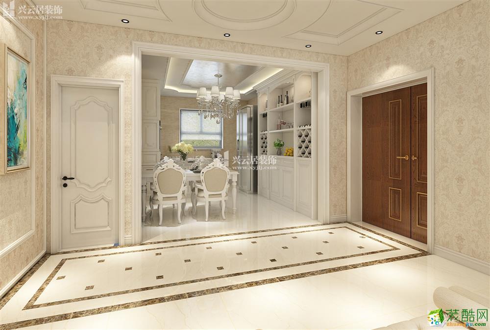 大同三室两厅两卫装修—兴云居装饰御河湾136平欧式风格装修效果图