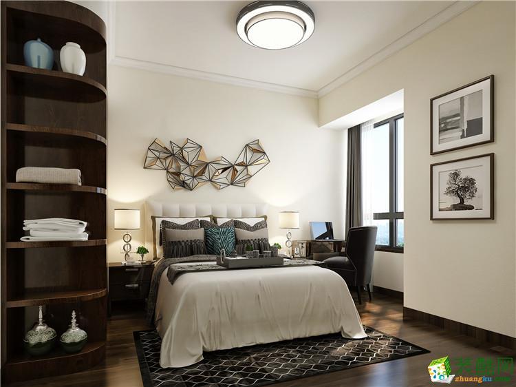 >> 黄石三室一厅一卫装修―海天装饰万达华府90平新中式风格装修效果
