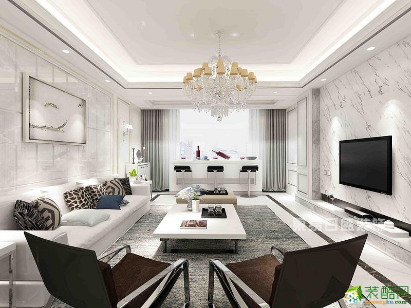 重庆新房装修-融景城185平米现代装修效果图-东易日盛