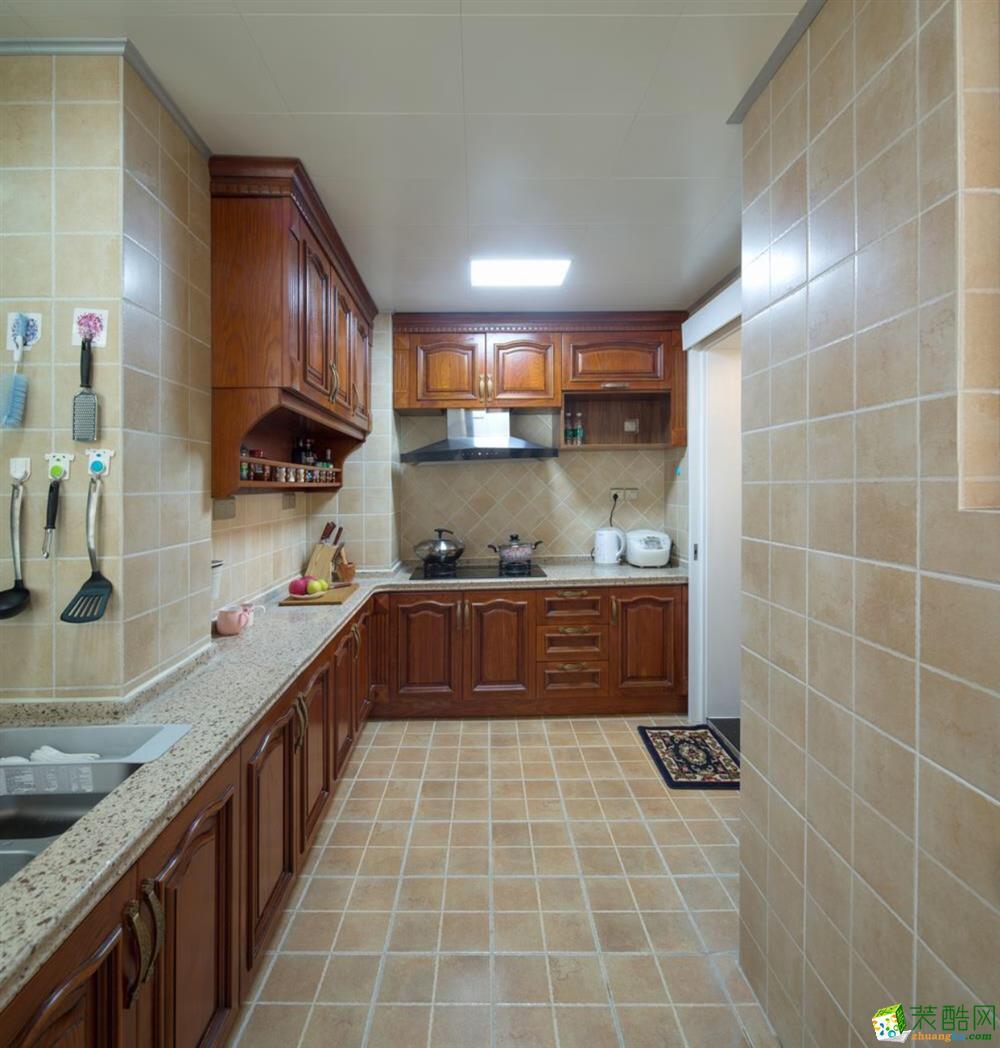 武汉135�O三室两厅两卫装修―楚天都市沁园欧式风格作品