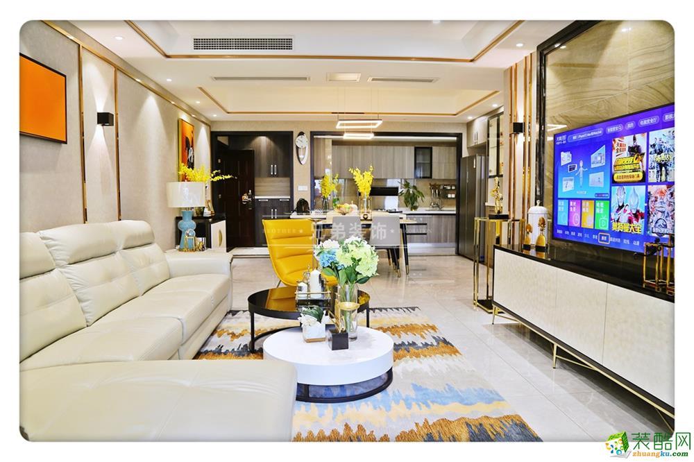 重庆四室两厅装修-龙湖江与城原山时光120平米现代风格装修效果图-兄弟装饰